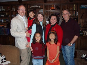 The Dorris Family with Dr. Joyce and Robin Hill